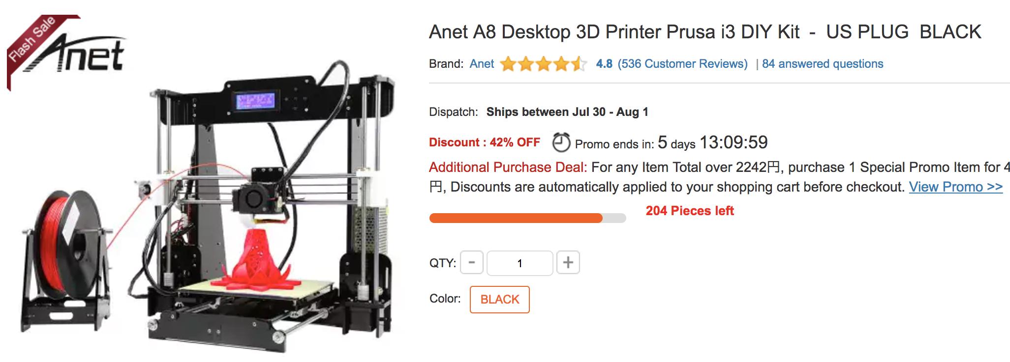 Gearbest Anet A8 3D Printer